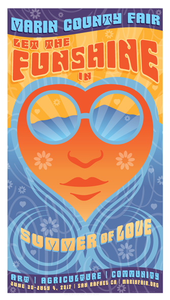 Coming Soon - Marin County Fair - 2017 - Let the Fun Shine In - Summer of Love