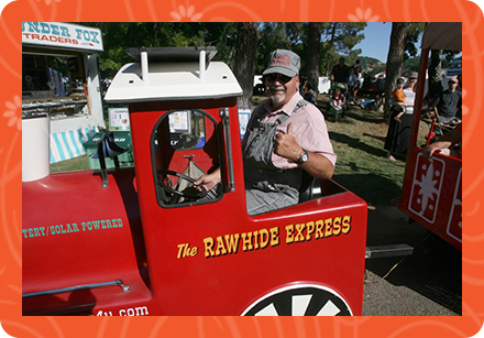 The Rawhide Express miniature train