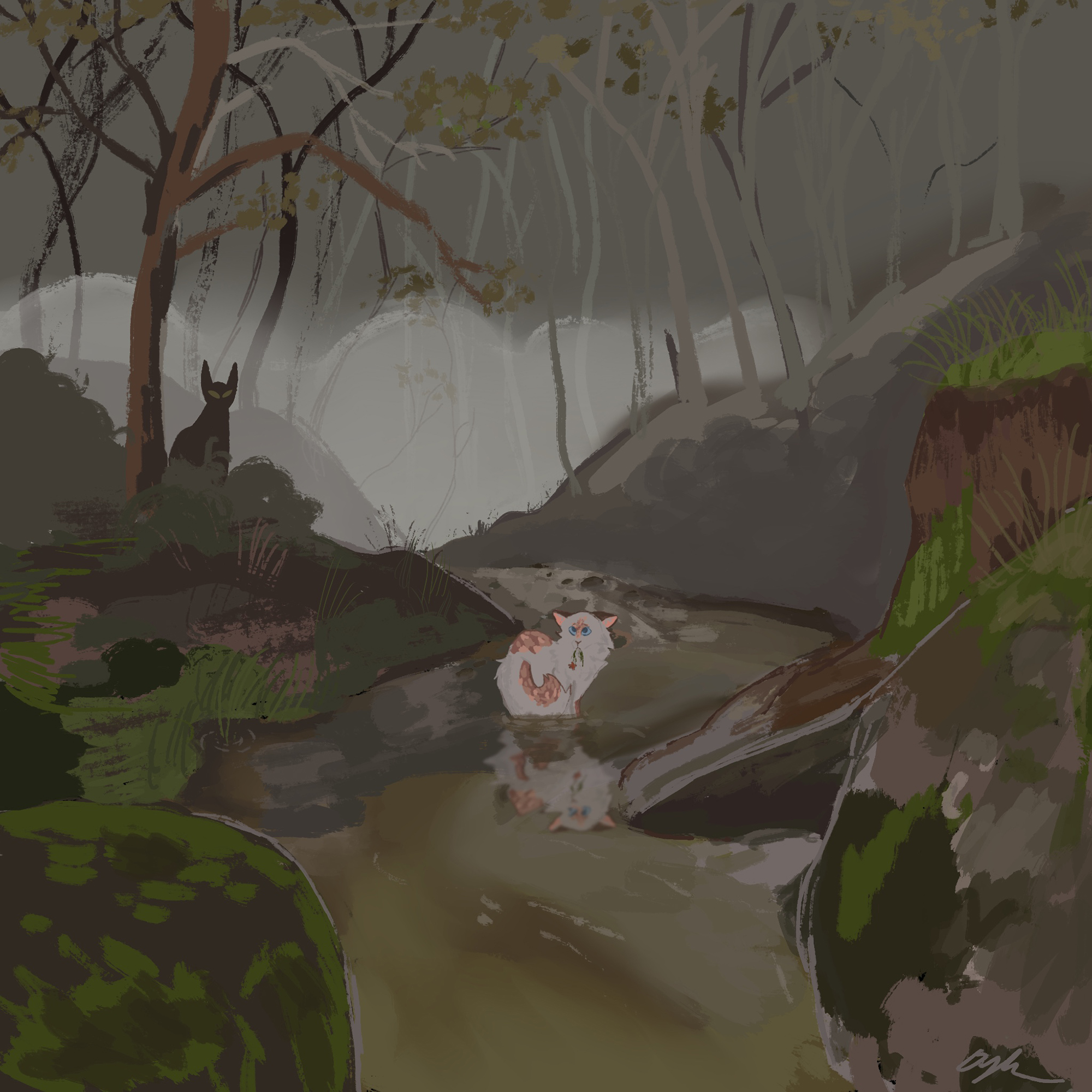 Award of Excellence. Dylan Gibson, Foggy Mornings (digital painting)