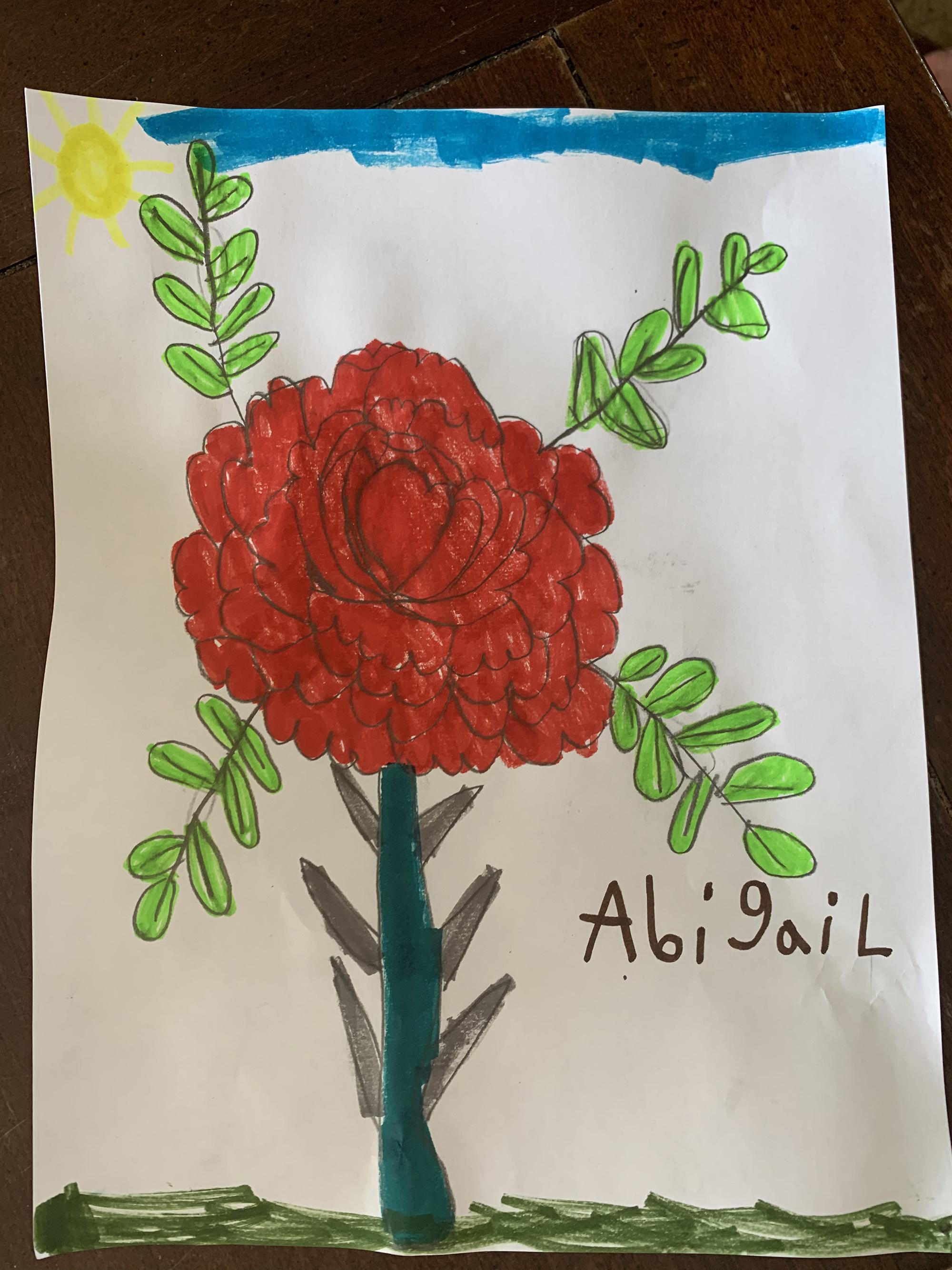 2nd. Abigail  Bruhn, flower