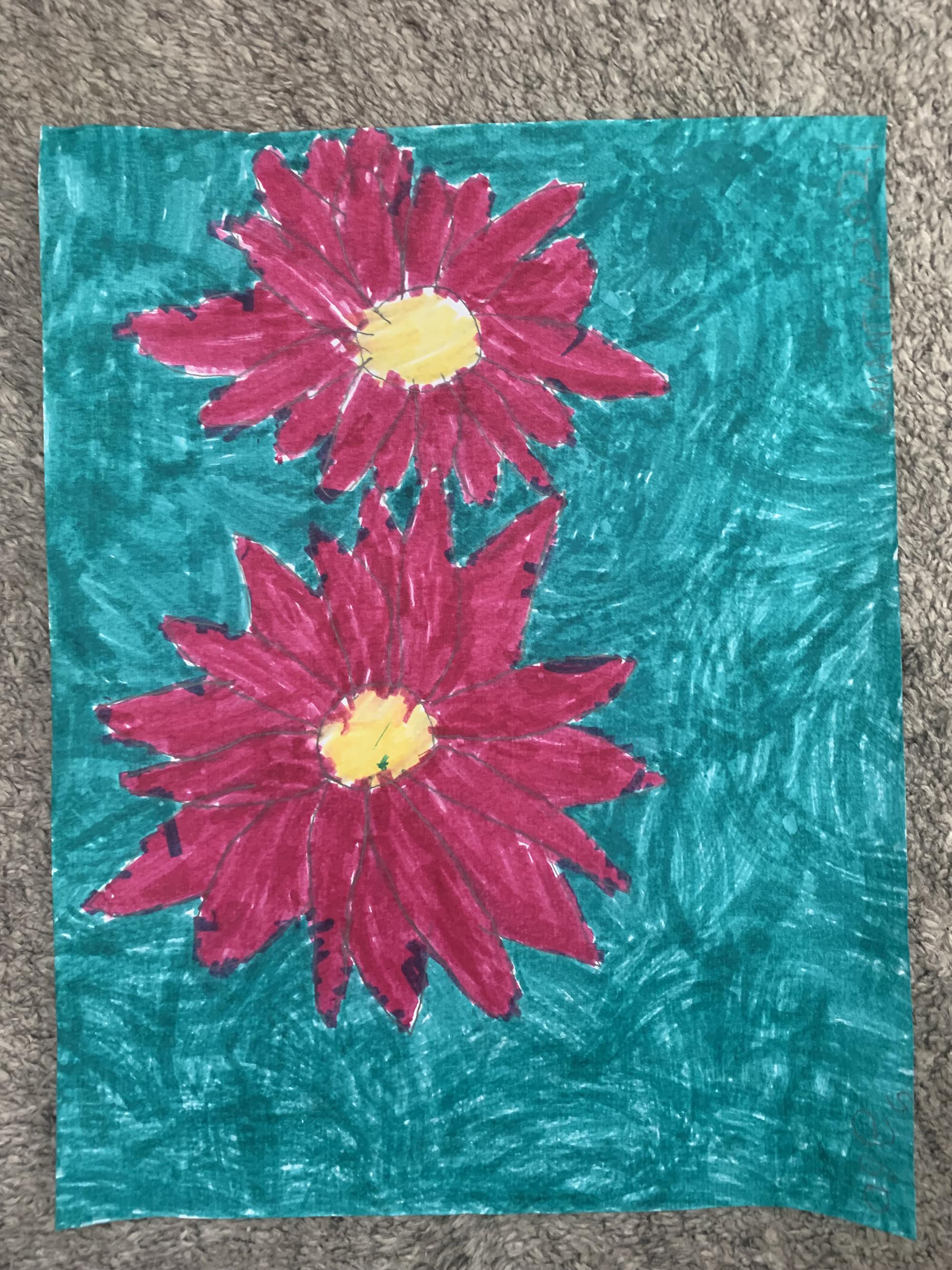 2nd. Samantha Boralli, pink flowers