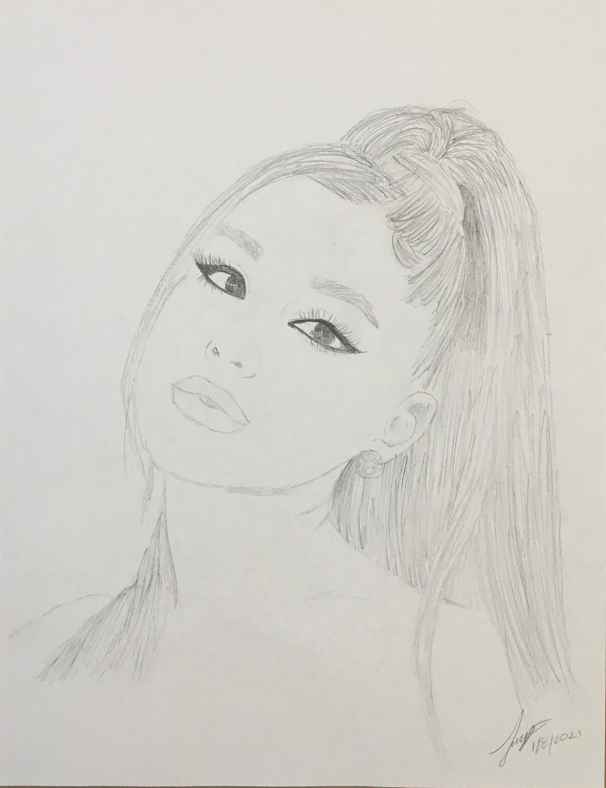 2nd. Tamar Parker, Pencil Drawing of Ariana Grande