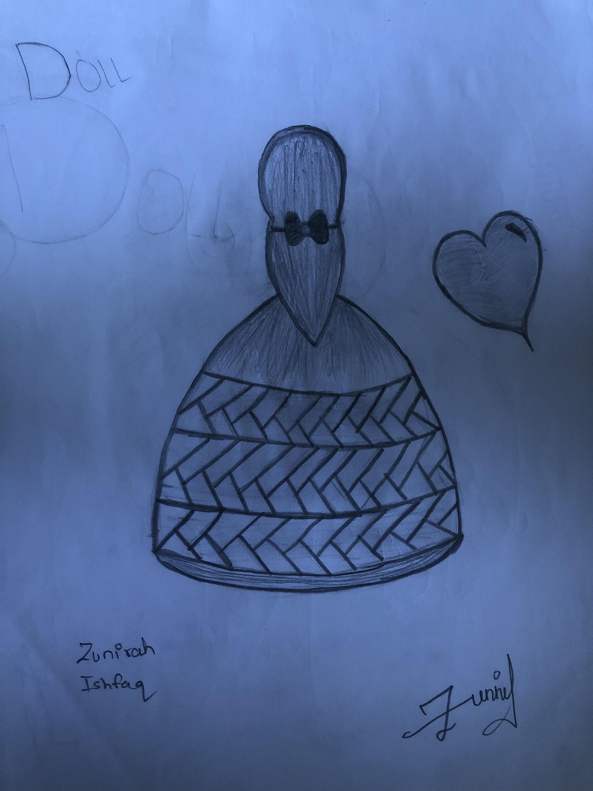 3rd. Zunirah Ishfaq, Drawing #7
