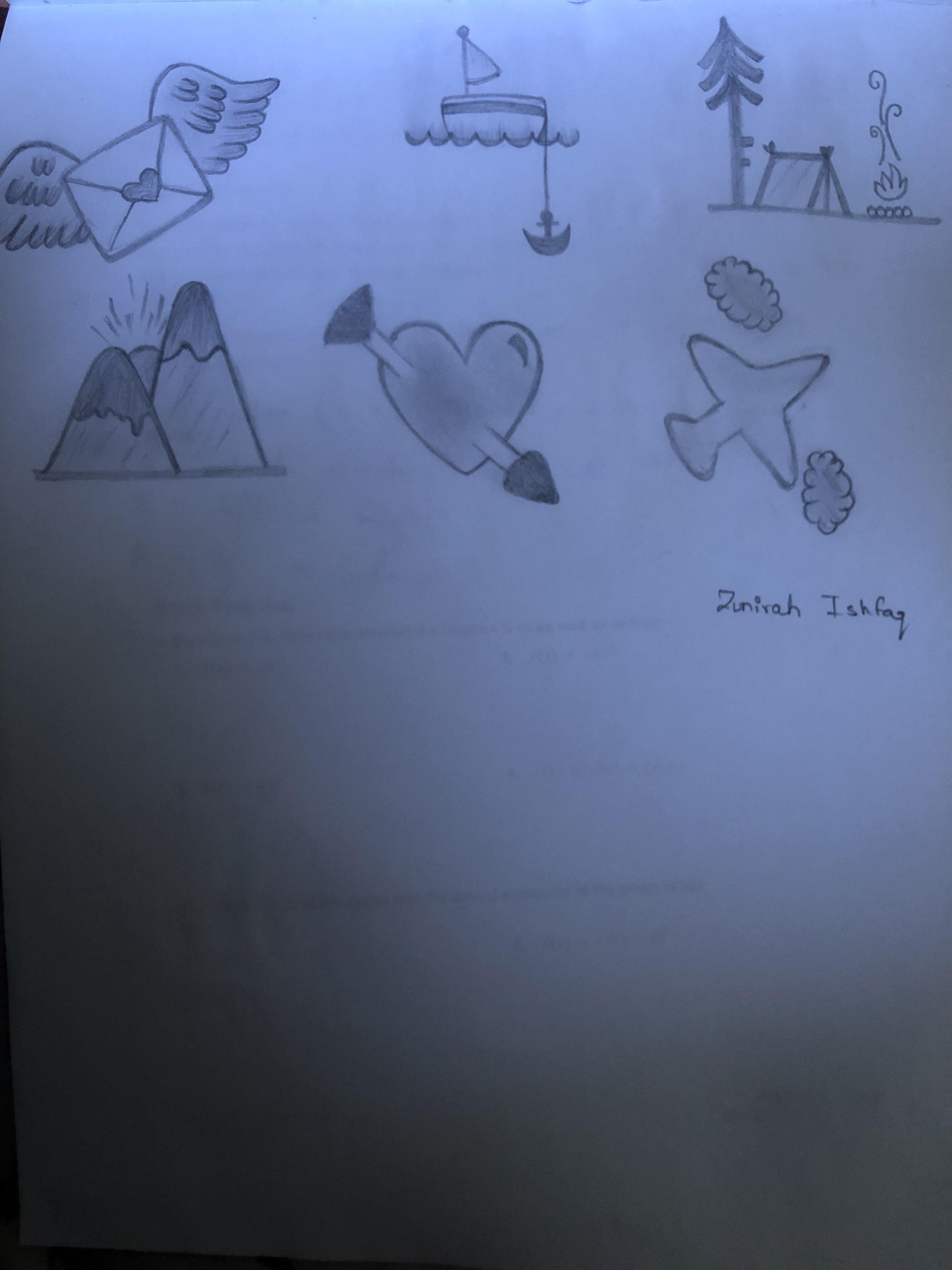 4th. Zunirah Ishfaq, Drawing #10