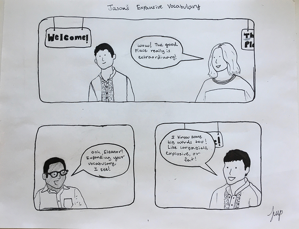 1st. Tamar Parker, Comic Strip with Characters from The Good Place