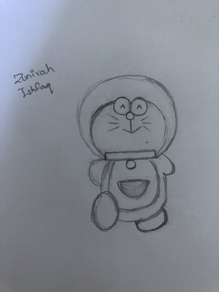 1st. Zunirah Ishfaq, Drawing #6