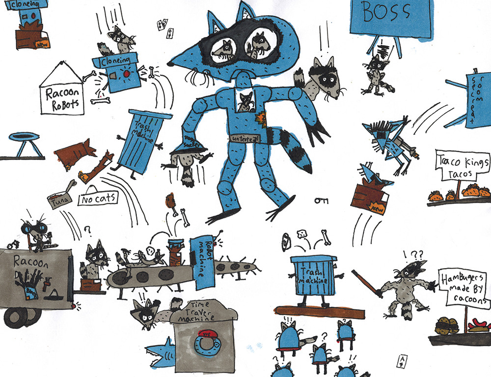 BOS 1st. Harris Naouri, Raccoonville naouri robots