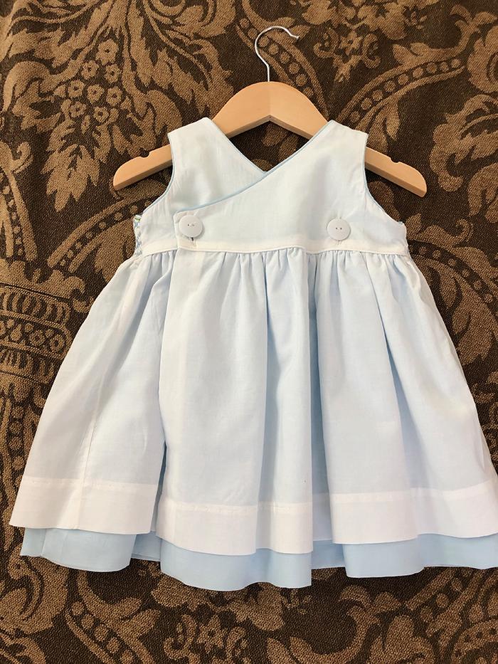BOS Sewing 1st. DanaThelen, Blue Smocked Dress 2