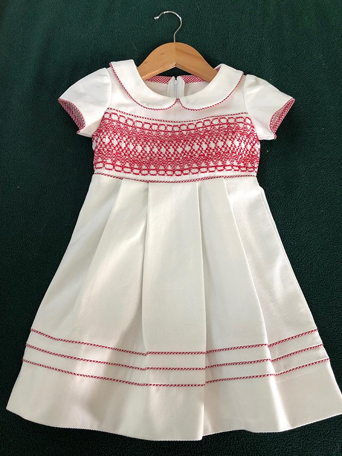 1s.t Dana Thelen, White Smocked Dress 1