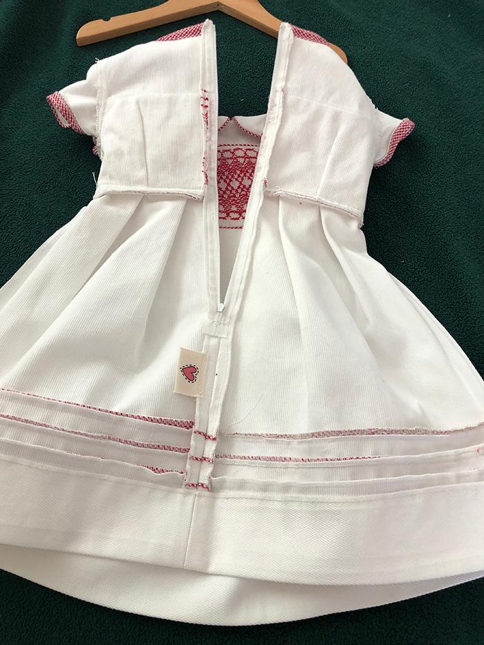 1st. Dana Thelen, White Smocked Dress 2