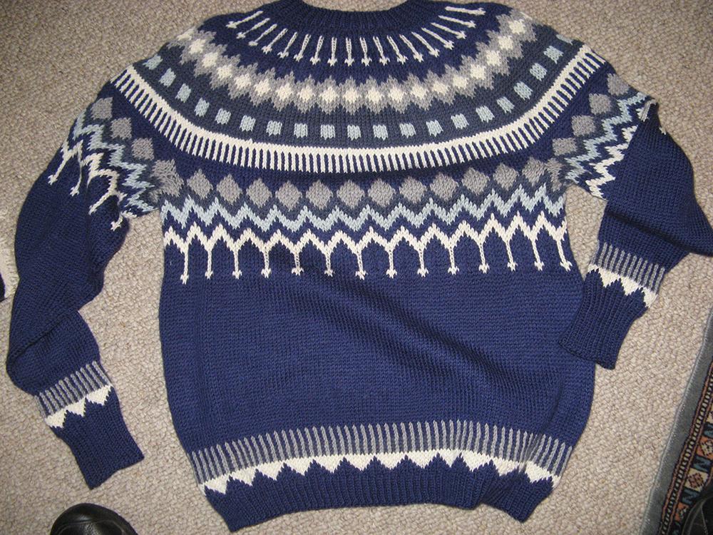 1st. Elaine C Johnson, Man's Scandinavian Pullover