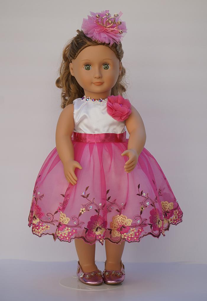 1st. Oksana Grinchenko, Princess Ballroom Dress for 18 inch dolls handmade Pink