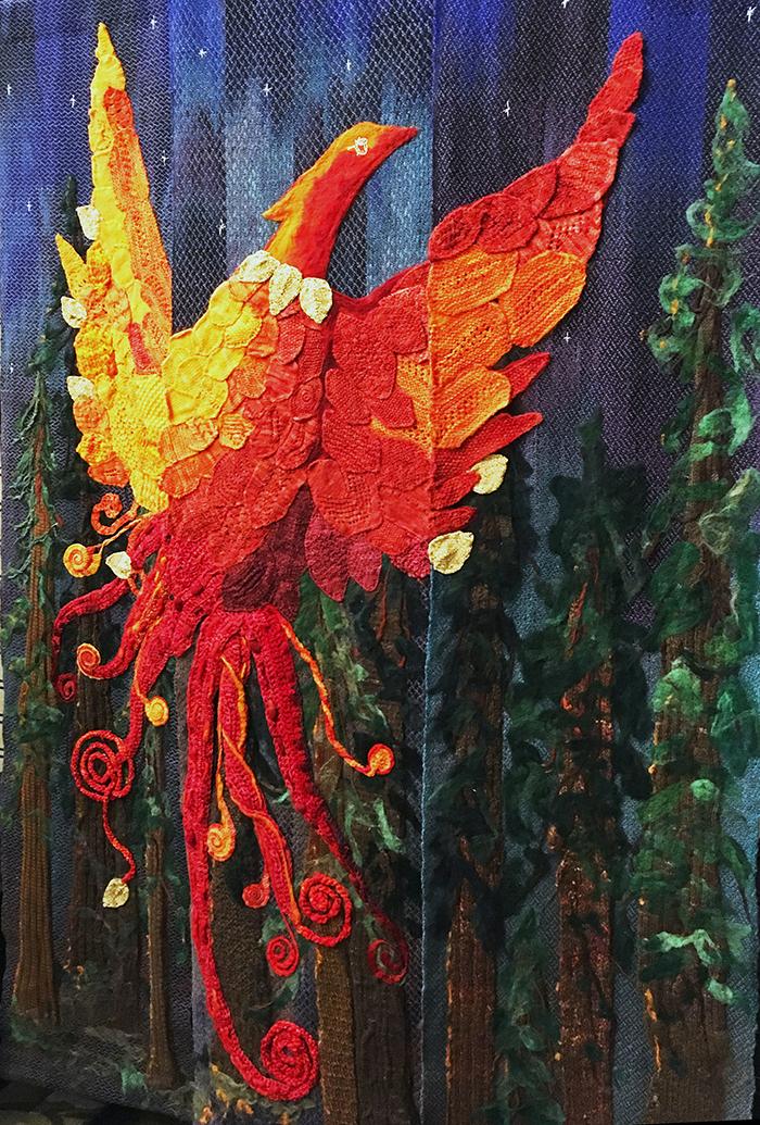 1st. Redwood Guild of Fiber Arts, Phoenix Rising Phoebe 3