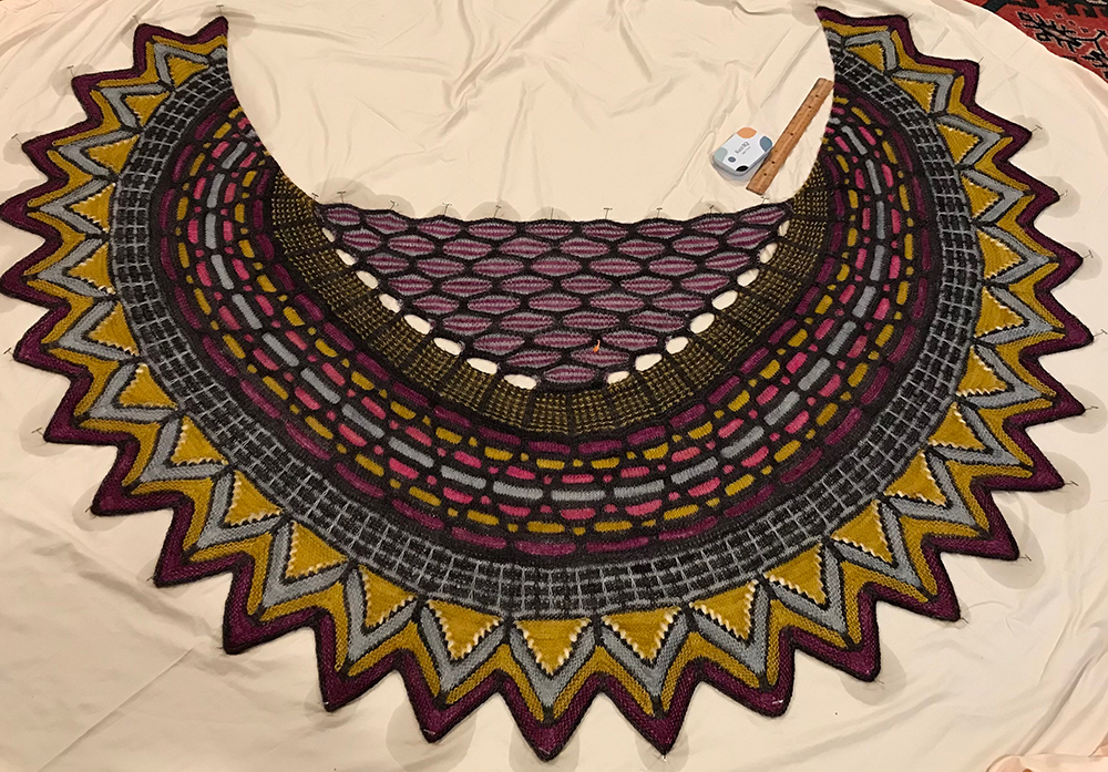 1st. Susan Stoddard, Knit shawl 1