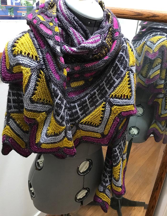 1st. Susan Stoddard, Knit shawl 2