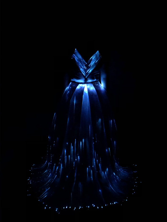 Special Award, 1st. Taylor Boothe, LED Fiber Optic Gown 3