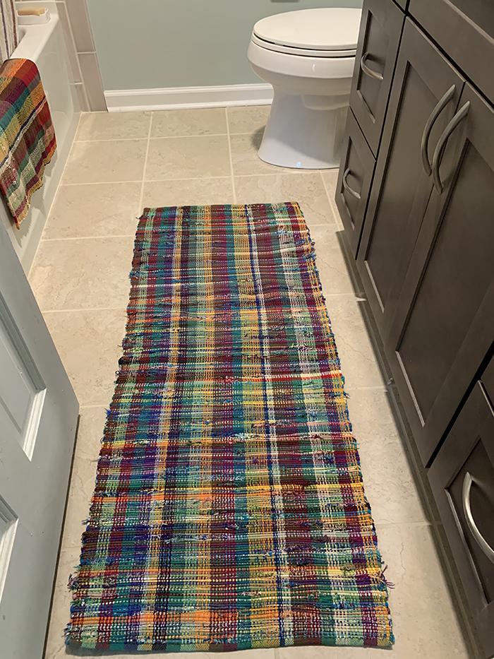 3rd. Mary Ann Peterson, Bathroom Thrum Rug