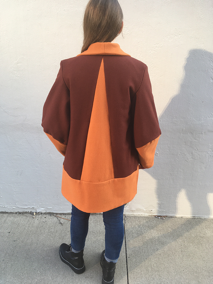 3rd. Taylor Boothe, Lined Color Block Wool Coat 1