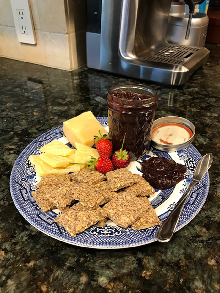 1st. Chris Caldwell-Collins, Rhurbarb Chutney with Flax Crackers