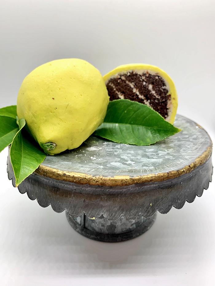 1st. Michelle Heston, sculpted lemon cake