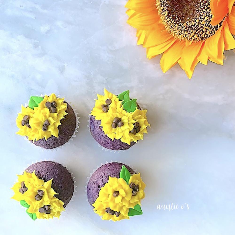 1st. Olivia Puett, Ube Cupcakes