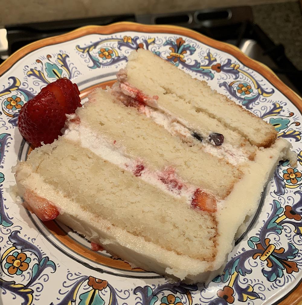 2nd. Caitlin Bain, Triple berry and cream cake 2