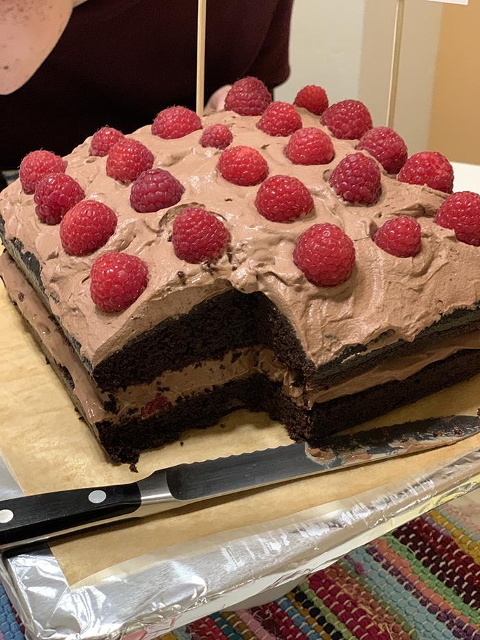 2nd. Illana Zauderer, Triple Chocolate Mousse Cake with Raspberries