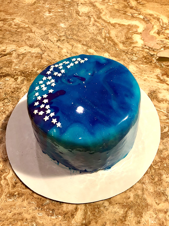 Best of Show, Decorated Cakes. Huang Alyssa, Mirror Glaze Galaxy Cake