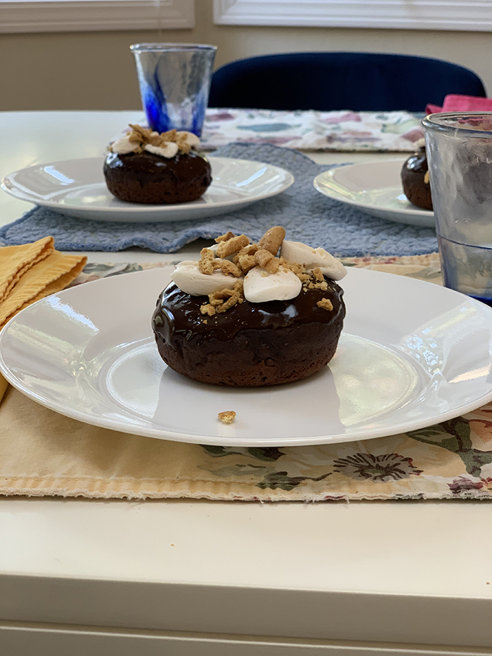 Best of Show, Specialty Desserts. Tamar Parker, Chocolate Smore Baked Doughnut