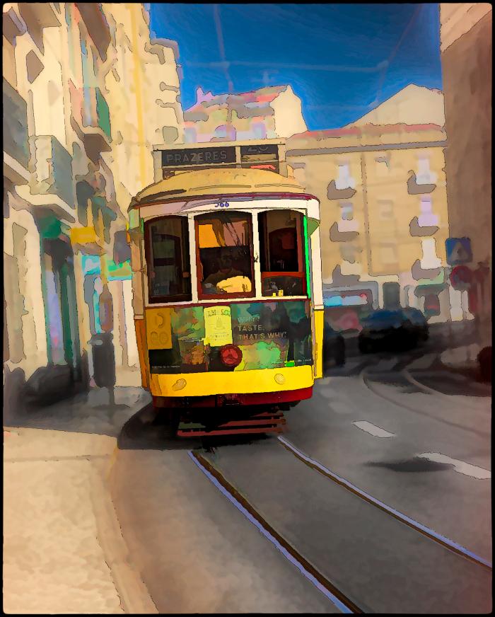 Lisboa Tram 24 to Prazeres Cemetary