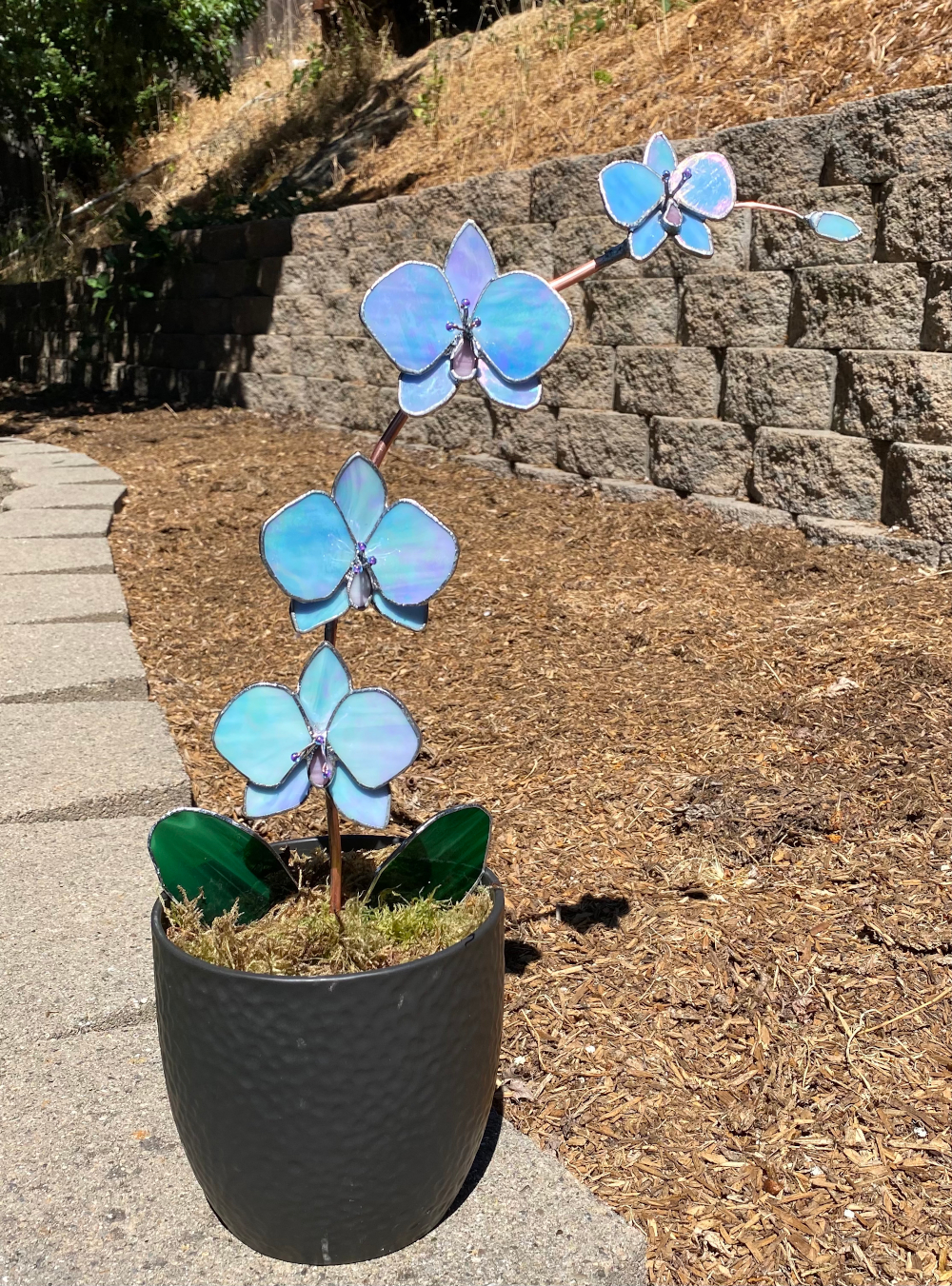 1st. Rayna Pitter, Stained glass orchids 1