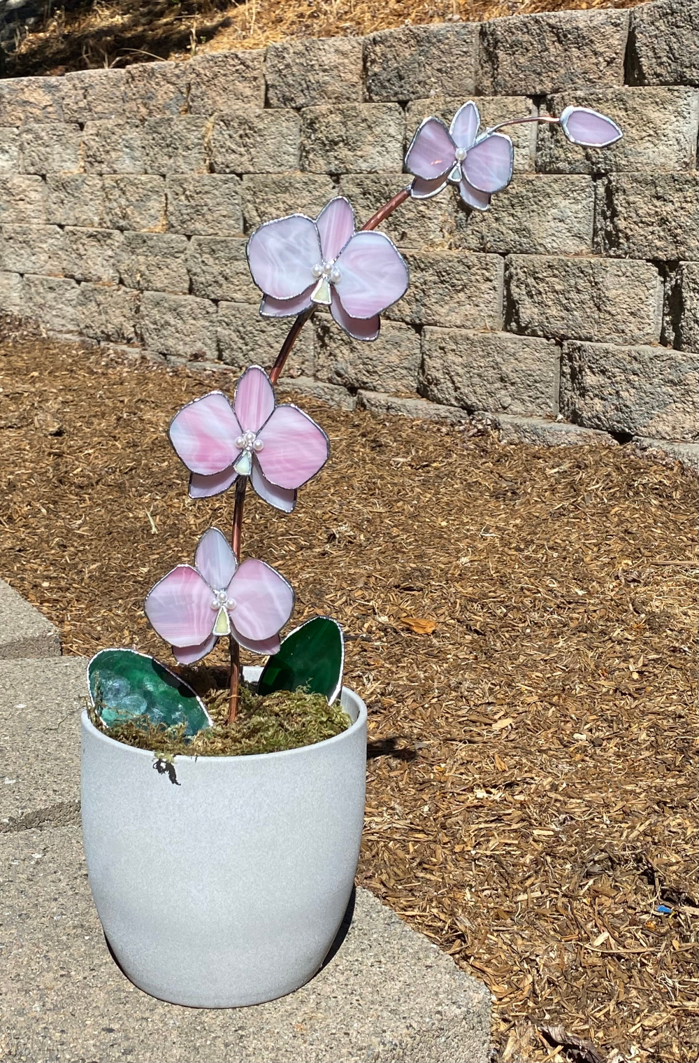 1st. Rayna Pitter, Stained glass orchids 2