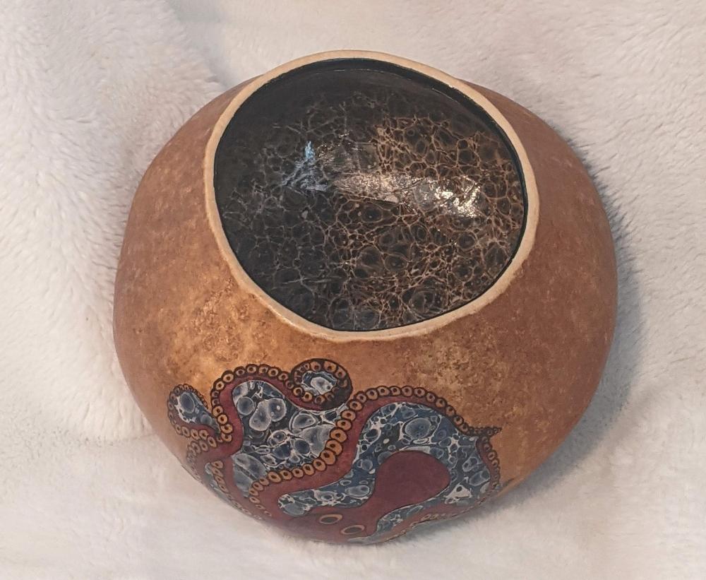 BOS 1st. Rebecca Jung, Minoan Octopus Gourd - View 2